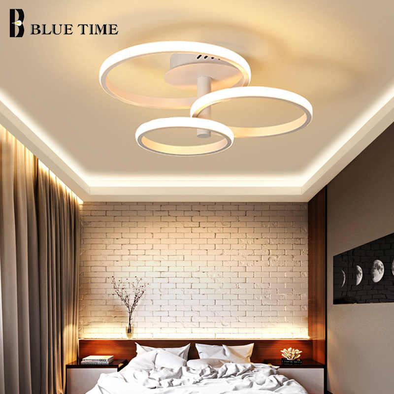 Candelabro LED circular para el hogar moderno para comedor dormitorio Sala montaje en techo iluminación LED de araña accesorios 110V 220V