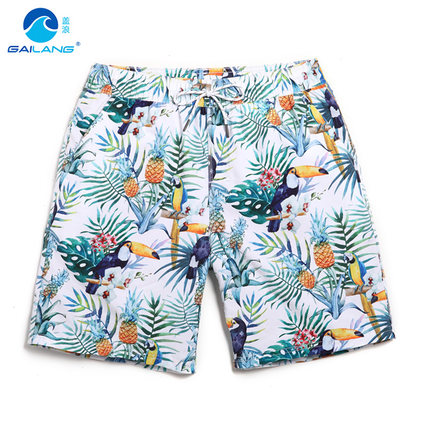 GL brand men beach   shorts   boardshort   short   homme quick drying water sportswear plus size loose mens beach surf   board     shorts