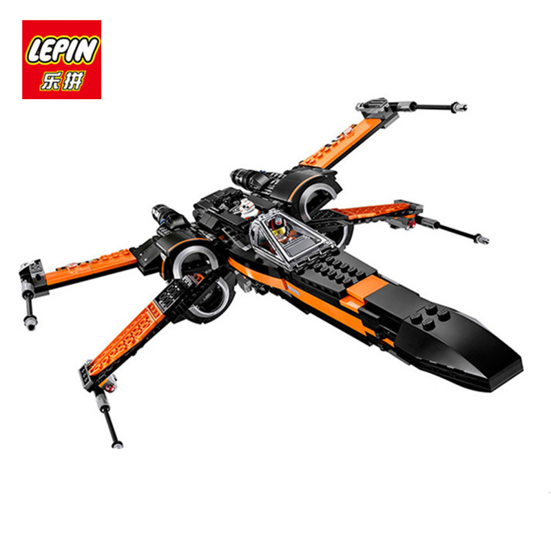 LEPIN 05004 Star First Wars Order Poe's X Toys wing Fighter Building Blocks assembled Compatible 75102 Educational toys DIY gift