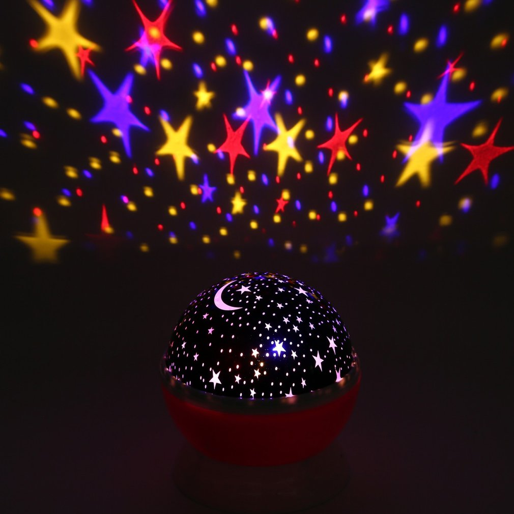 Fantasy Rotating Romantic Star Light Projection Lamp Night Lights 360 Degrees Rotating Moon Star Projector with USB Cable Sale
