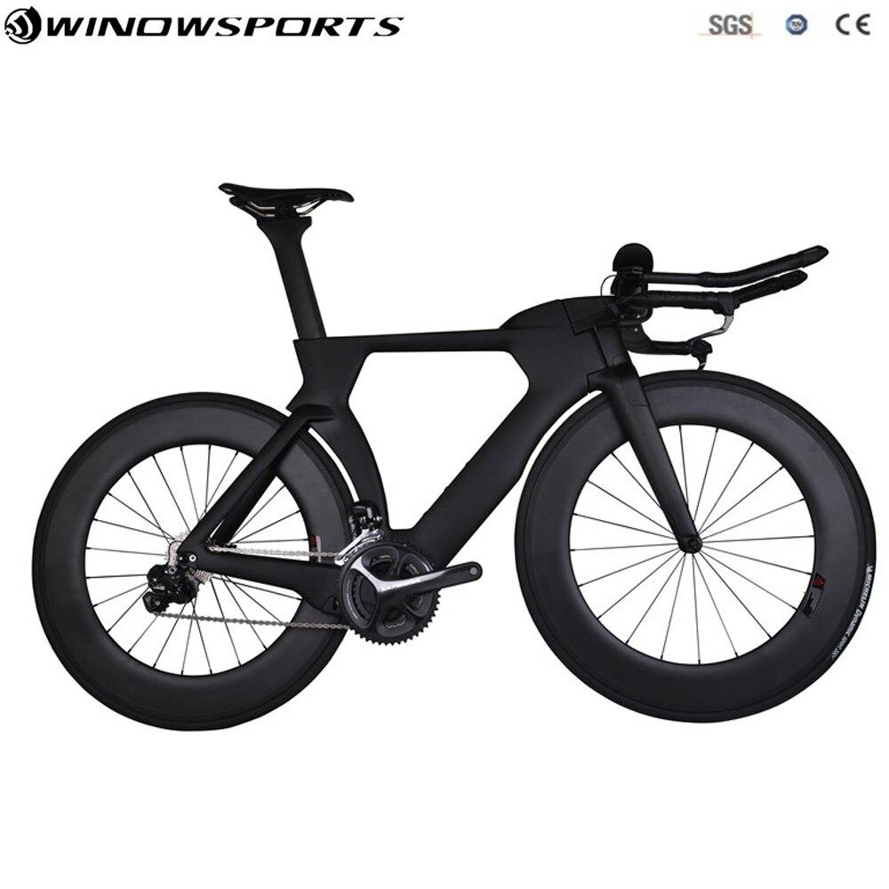 Aero carbone time trial vélo plein triathlon TT vélo 22 vitesse Aero tt de carbone vélo cadre de vélo 48/51/ 54/57 cm