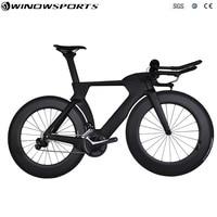 aero carbon time trial bicycle full triathlon TT bike 22 speed Aero carbon tt bicycle bike frame 48/51/54/57cm