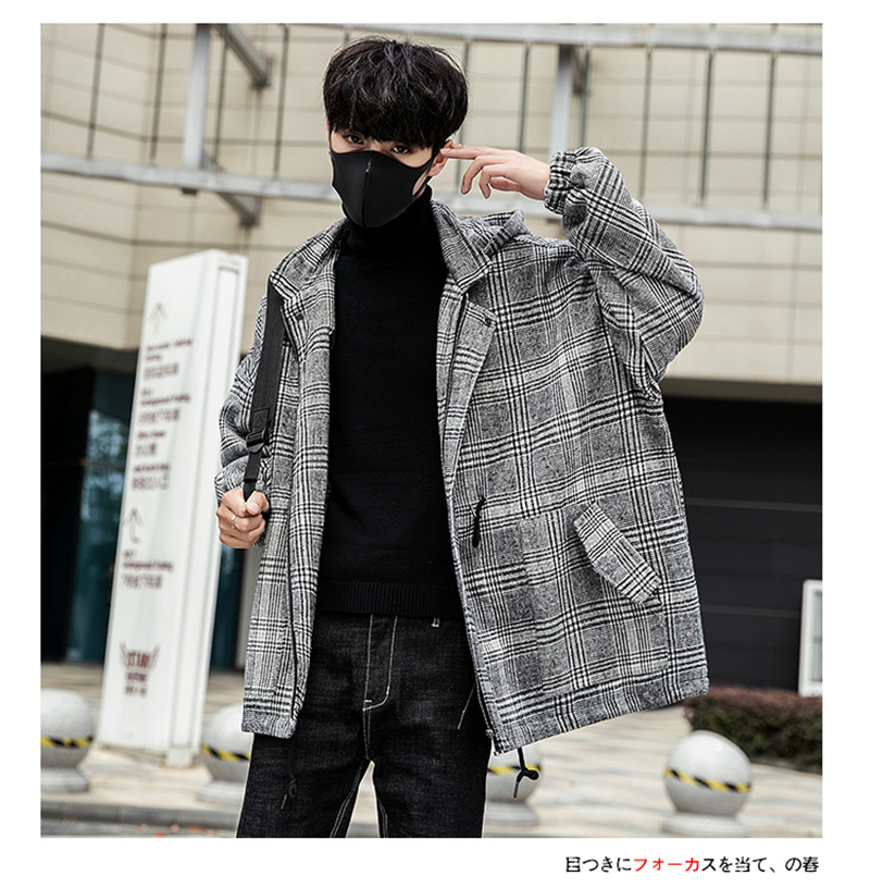 Male Long Coat Oversize Lapel Button Sobretodos Hombre Overcoat Streetwear (24)