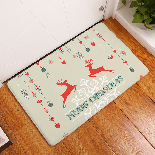 Attirant Hyha Xmas Decorations Mat Light Flannel Welcome Home Door Mats Merry  Christmas Cartoon Elk Mats Kids