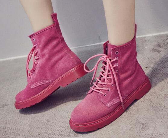 2018 Весна и осень модные повседневные подростки ботинки обувь на плоской подошве женские