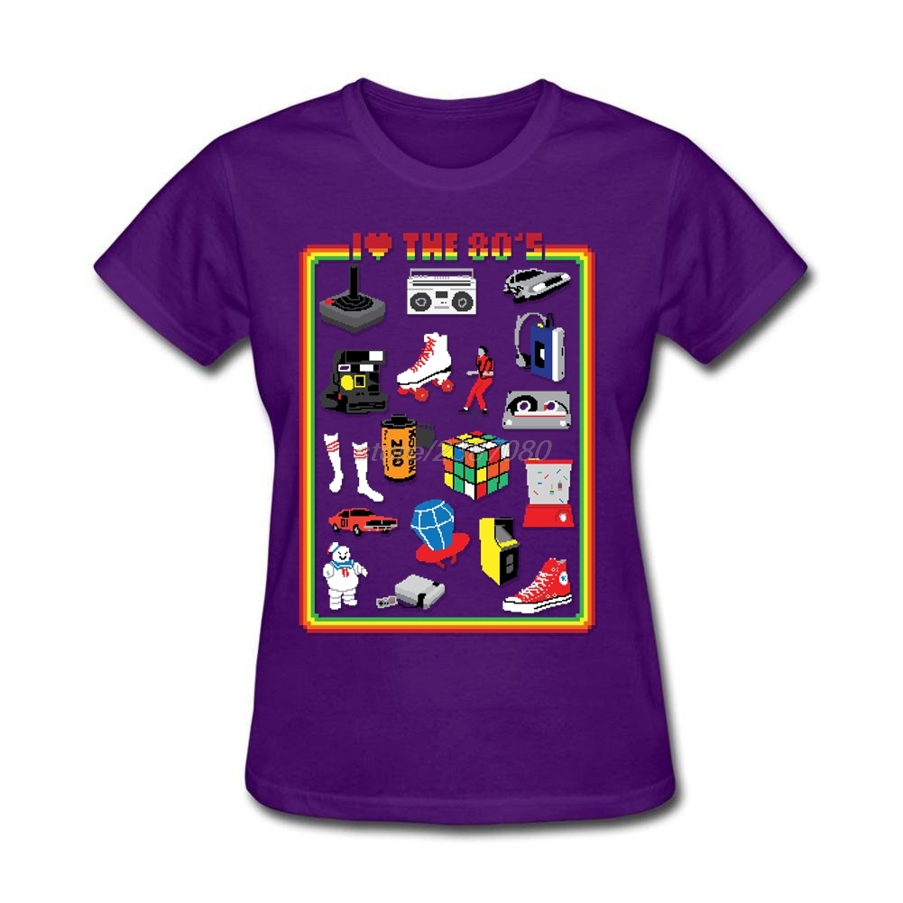 Design t shirt europe - New Europe And American Crewneck Shirts Young I Love The 80 S T Shirt Cool Design Hot