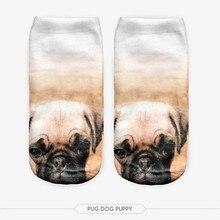 New Arrival Cotton Hosiery Socks Cute Cartoon Dog Socks Through Four Seasons 3D Full Printing Meias Low Cut Ankle Socks