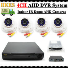 HKES 4CH 720P AHD DVR Equipment 1.0MP Indoor IR Dome AHD Digital camera Video Surveillance System
