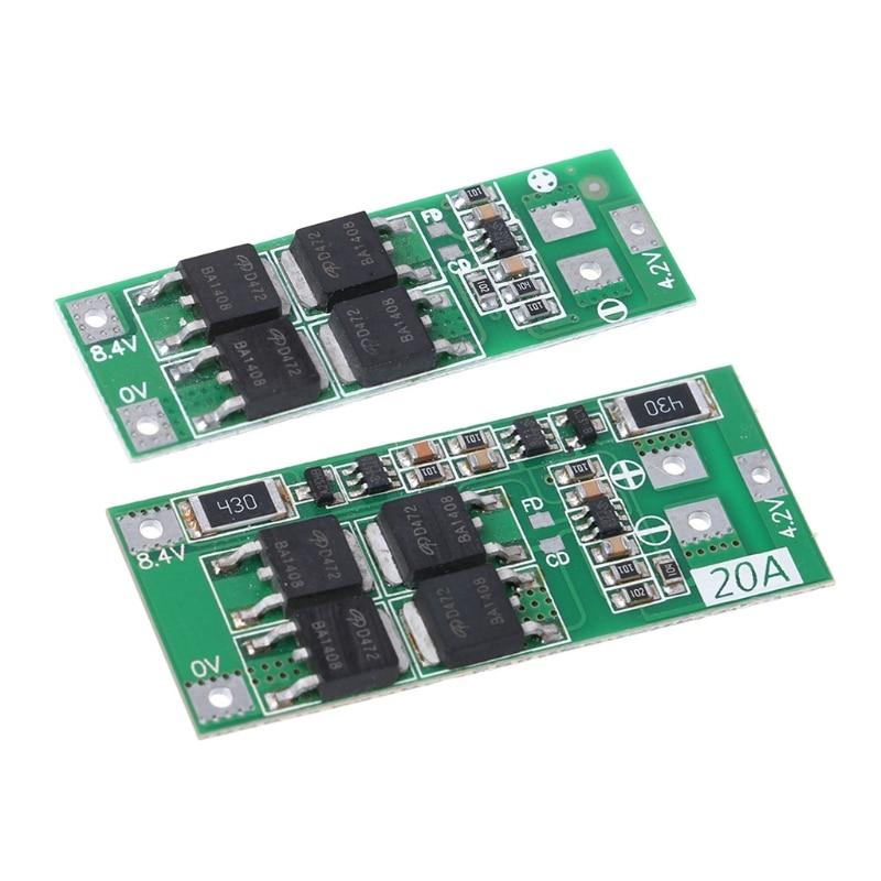2S 20A 7.4V 8.4V Li-ion Lithium Battery 18650 Charger PCB BMS Protection Board2S 20A 7.4V 8.4V Li-ion Lithium Battery 18650 Charger PCB BMS Protection Board