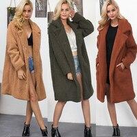 Women Faux Fur Coat 2018 Winter Thick Warm Fluffy Long Fur Coats Fashion Shaggy Jacket Ladies Overcoat Plus Size 3XL Outwear