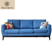 Home Furnitures 3 Seaters Sectional Sofas Divano Living Room Sofas Sets Mobilya Modern Sofas Bed Blue