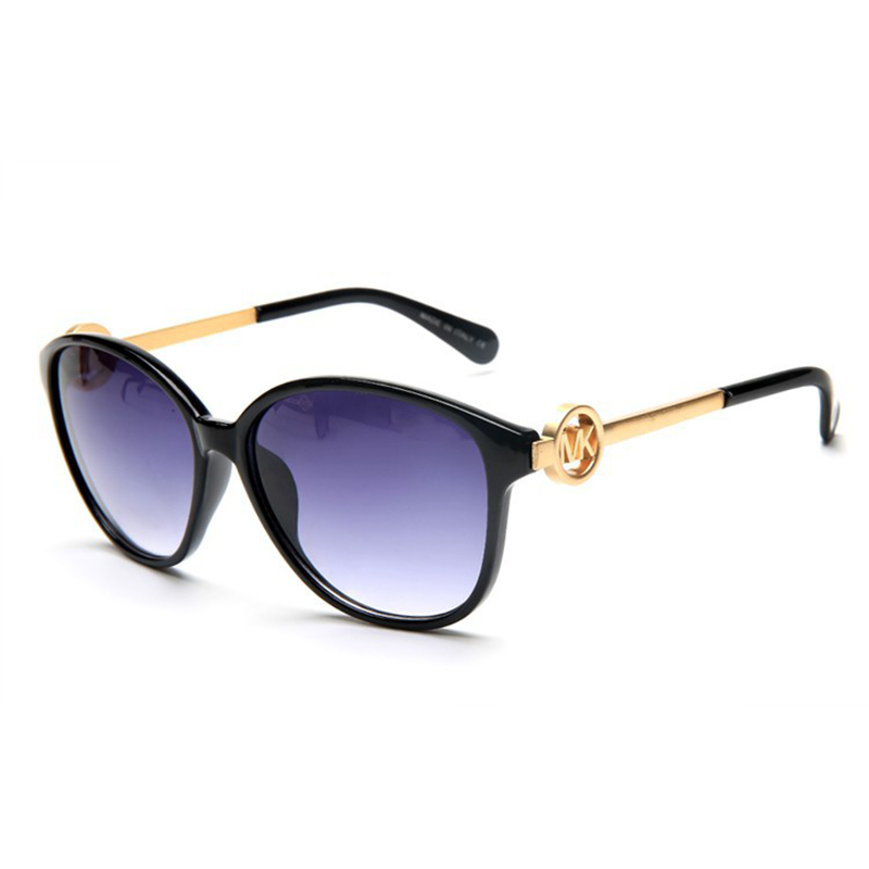 Circle MK Gold Mirror Legs Fashion Mirror Europe And The United States Exquisite Windproof Sunglasses