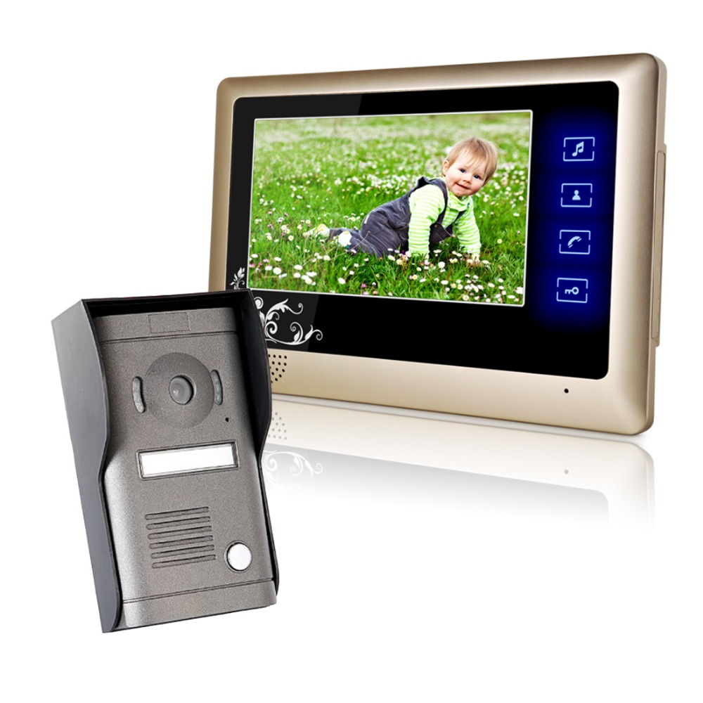 Electronic Lock Video Door Phone Doorbell Home Security Touch Camera Monitor HD camrea with night vision function