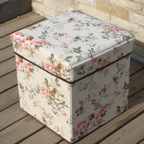 Saddam Rustic Small Flower Wishing Tree Storage Box Folding Storage Bench  Storage Box Chair Plus Size