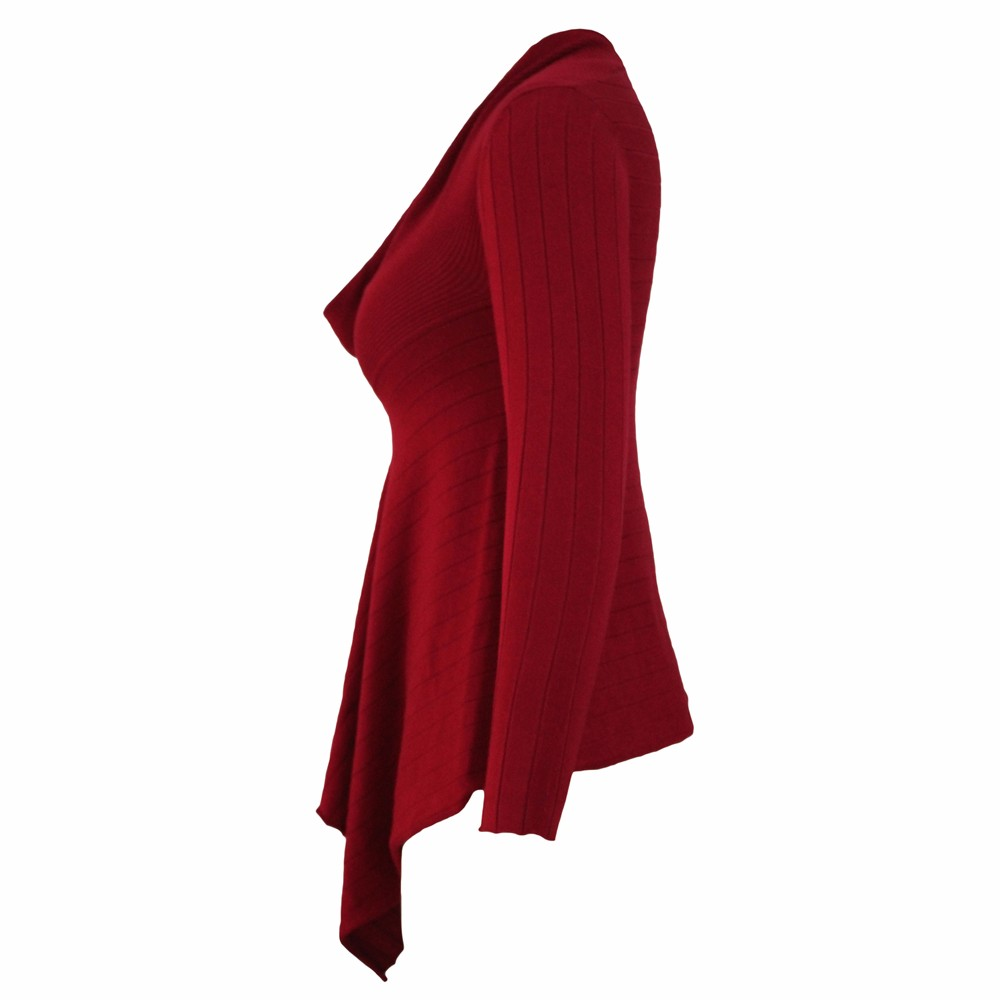 Red-Irregular-Hemline-Cowl-Neck-Sweater-LC27631-3-3