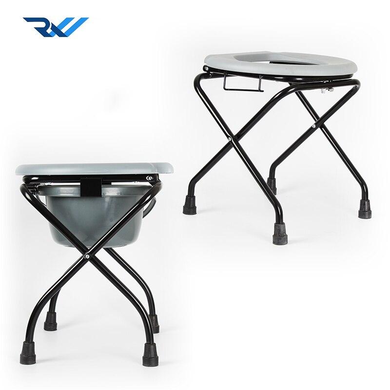 Heißer Verkauf Einfach Stahl Bad Wc Stuhl Faltbare Foldong Wc Kommode Stuhl Für Disabed Neueste Mode
