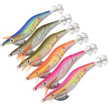 3pcs/lot 12cm 14g Luminous Shrimp Fishing lure Squid Jigging Explosion Hook With 3# For Sea