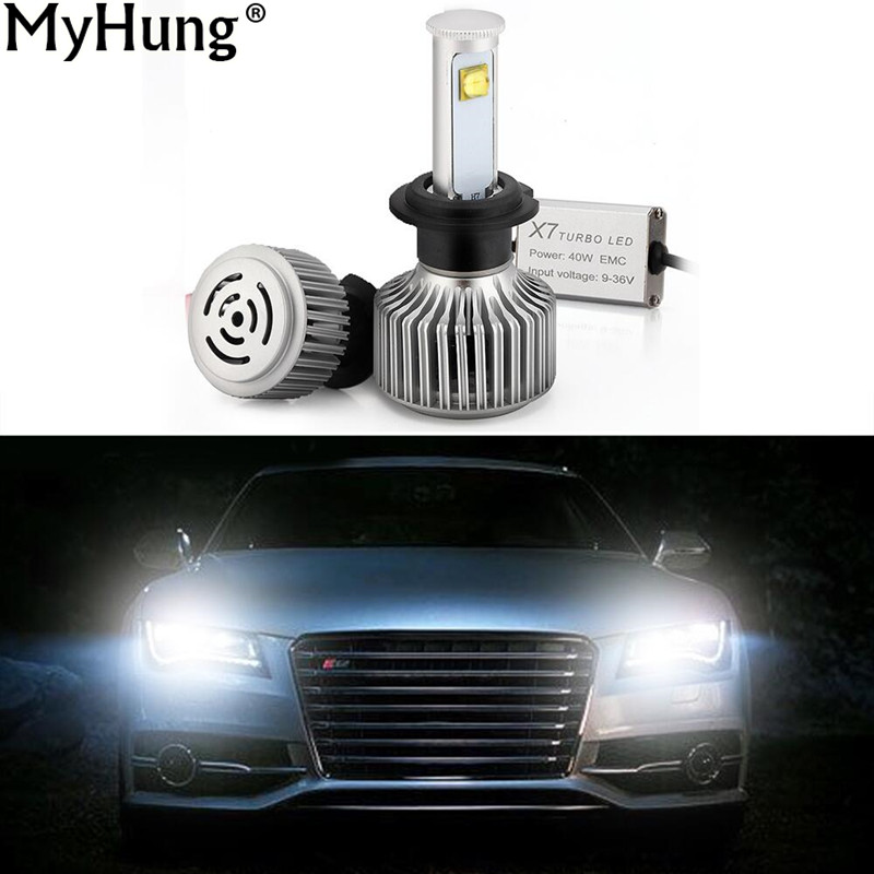 ФОТО LED 1Pair 800W 7200lm Super Bright Car Headlights 880 9005 9006 H1 H11 H3 H7 Auto Headlamp Car-Styling DRL Accessories