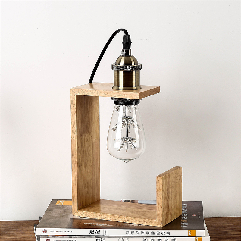 Nordic Wood Table lamp Desk Light For E27 EU Plug Living Room Bedroom Decor Mini Retro Bedside Lamp for home bedroom decoration north european style retro minimalist modern industrial wood desk lamp bedroom study desk lamp bedside lamp