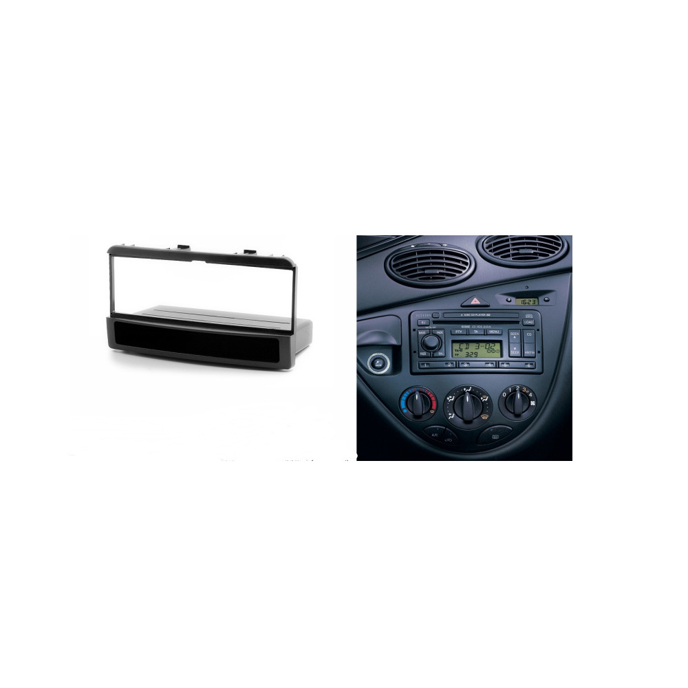 One din stereo panel for ford ford fiesta focus fascia radio refitting dash mounting installation trim kit face