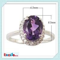 Beadsnice ID25584結婚式のクッション婚約指輪の純粋な銀メッキリング925で色石リング卸売