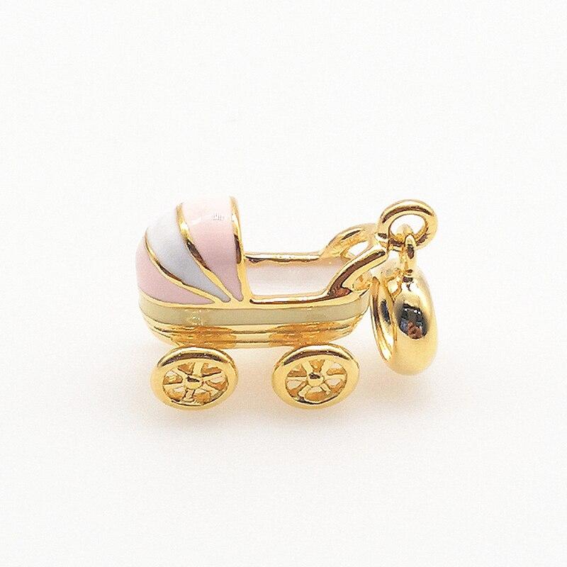 925 S Footprint Baby Newborn Murano Lampwork Charm Bead For European Bracelet