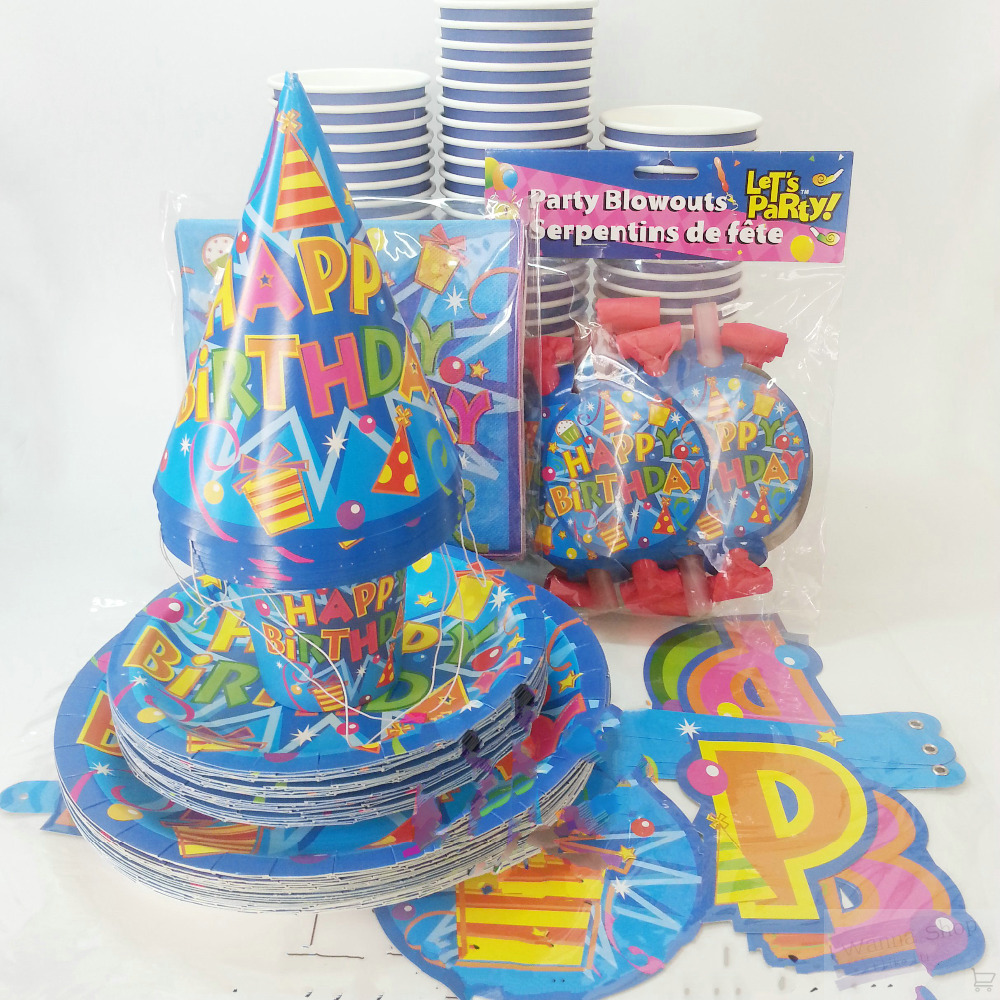 Birthday party paper plates cup hat blowouts pirate party decoration disposable birthday paper dishes set on Aliexpress.com | Alibaba Group  sc 1 st  AliExpress.com & Birthday party paper plates cup hat blowouts pirate party decoration ...