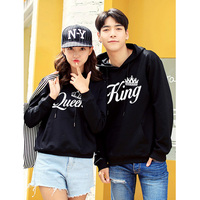 King Queen pullovers hoodie woman sweatshirt women hoodies sweatshirts harajuku pink black grey blue kpop
