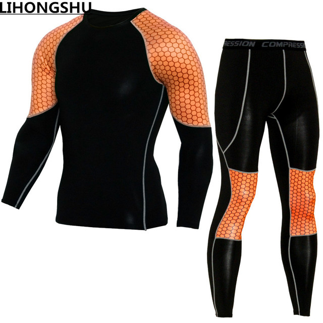The latest brand clothing quality in 2017 Thermal underwear Long Johns quick drying thermo underwear men clothing