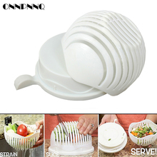 ONNPNNQ 60 Seconds Salad Cutter Bowl Wave Shape Easy Salad Maker Kitchen Tools Fruit Vegetable Chopper Kitchen Accessories