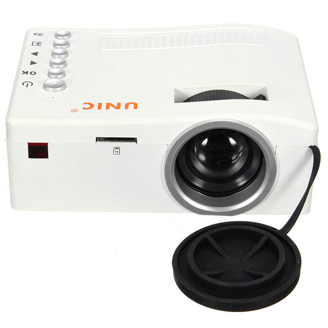 Excellent Quality UC18 Projector Full HD 1080P Home Theater LED Mini Portable Projector Cinema HDMI AV USB SD TF 3.5mm/Audio