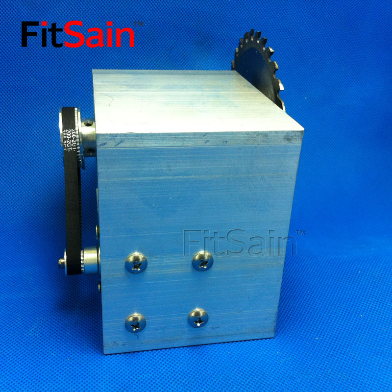 FitSain DC24V 8000RPM Mini table saw for 4 100mm saw blade hole 16mm 20mm spindle Cutting