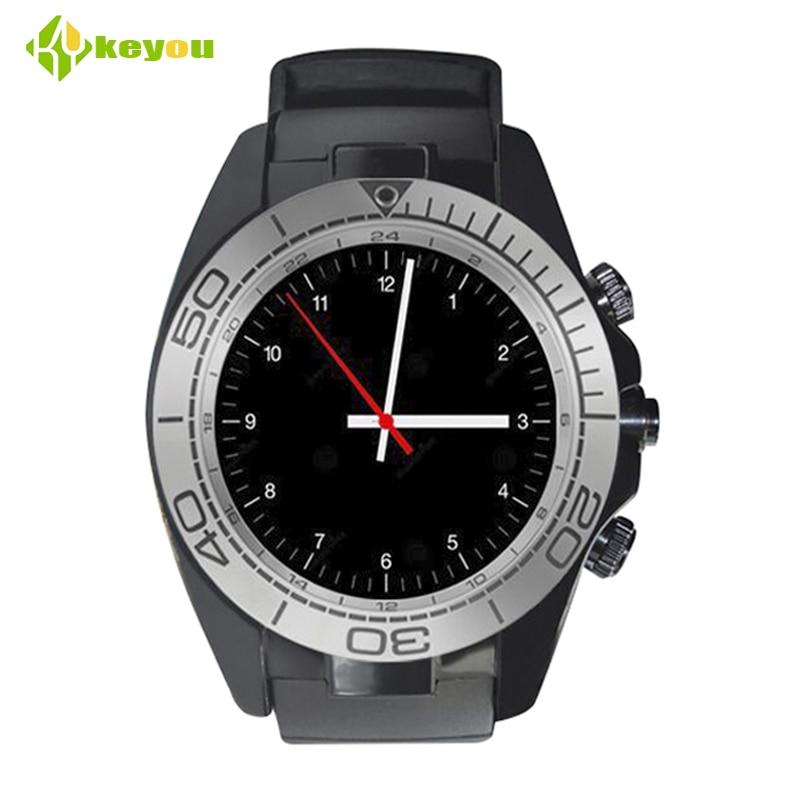 imágenes para Sw007 Reloj Inteligente Reloj Android Hombres Smartwatch Bluetooth Deporte Cámara Usable Dispositivos 2G Sim card TF smartwach ios teléfono