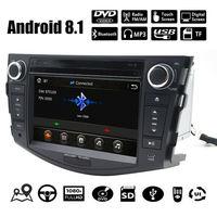7 дюймов Android 8,1 Автомобильный DVD плеер для Toyota RAV4 для Toyota Previa Rav 4 2007 2011 2 Din 1024*600 Авто Радио Стерео gps навигации радио рулевое колесо