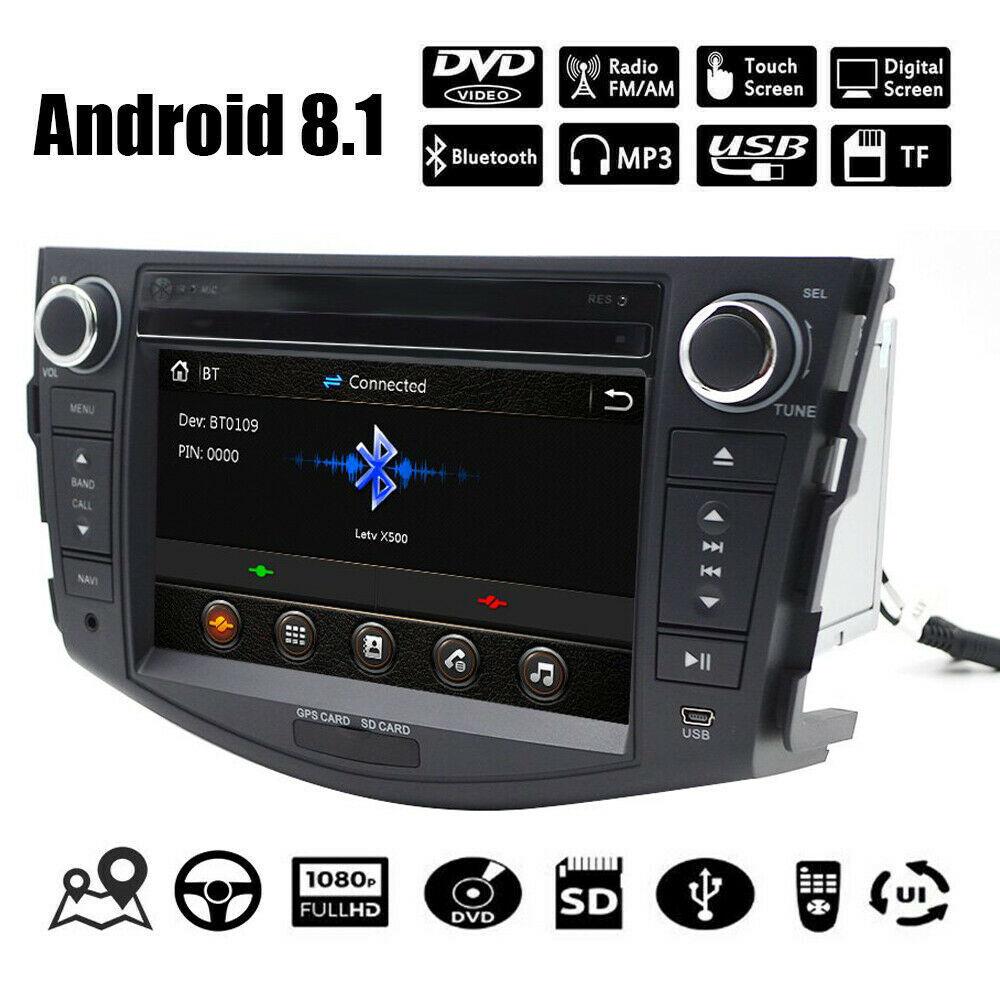 7 pouces Android 8.1 lecteur DVD de voiture pour Toyota RAV4 Rav 4 2007-2011 2 Din 1024*600 Auto stéréo GPS Navigation Radio volant