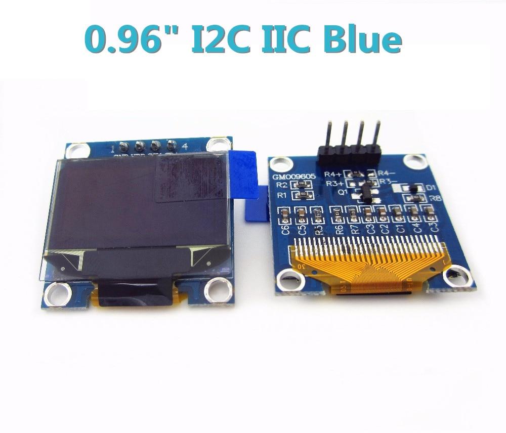 1pcs 128X64 Blue OLED LCD LED Display Module 0.96 I2C IIC SPI Serial 128*64 new in stock 0 96 inch 128x64 i2c interface oled display module board