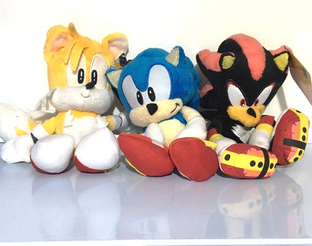 New Anime Super Sonic Plush Toys the Hedgehog Tails Ultimate Flash Fox Plush Toys 20CM Cute Stuffed Animals Anime Doll Soft Toys