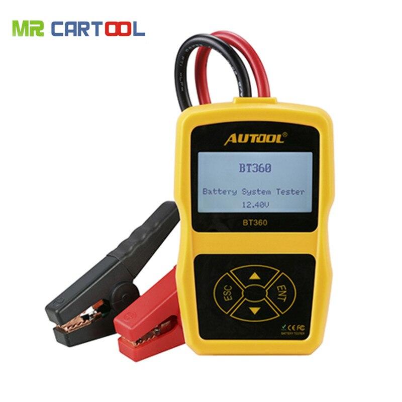 Alta Qualidade AUTOOL BT-360 BT360 bateria de carro Testador de Bateria testador de bateria testador BT 360 tester Atualização bst-100