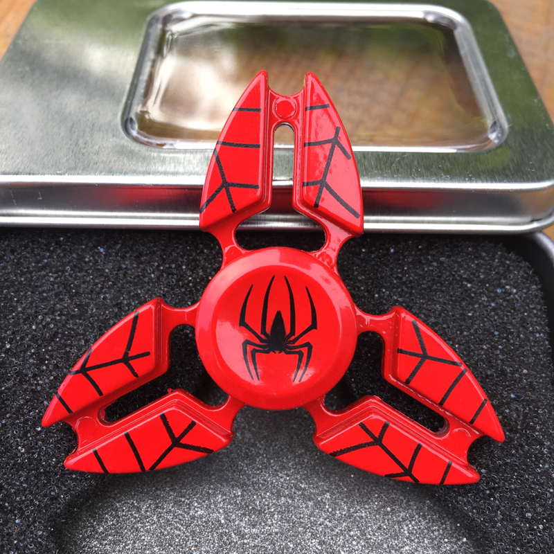 New Spider Metal Fidget Spinner Cool Finger Toys EDC Hand Spinner Tri-spinner for ADHD Relief Stress Toy Kids/Adult Gift infinity cube new style spinner fidget high quality anti stress mano metal kids finger toys luxury hot adult edc for adhd gifts