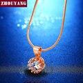 Top Quality Crown Crystal Rose/Oro Blanco Plateó La Joyería Libre Del Níquel Pendiente Cristalino ZYN390 ZYN391