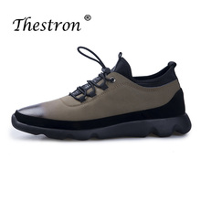 Spring Autumn Youth Casual Shoes For Men Fashion Sneakers Black Brown Young Boy Flats Luxury Brand Pu Leather