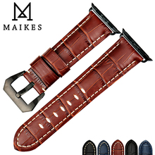 MAIKES Watch Strap Replacement For Apple watch band 44mm 40mm 42mm 38mm Series 4 3 2 1 iWatch Genuine Cow Leather Watchband retro vintage genuine leather iwatch strap replacement for apple watch 42mm series 3 2 1 sport and edition iwatch band 38mm