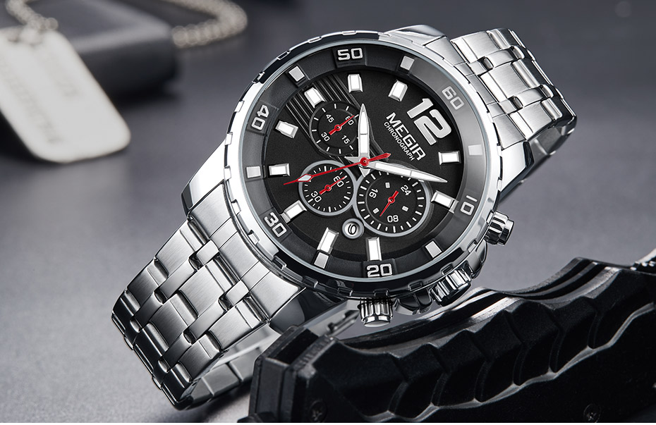HTB1WITNaVGWBuNjy0Fbq6z4sXXa4 Megir Men's Gold Stainless Steel Quartz Watches Business Chronograph Analgue Wristwatch for Man Waterproof Luminous 2068GGD-2N3