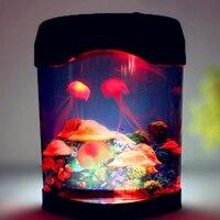 Iguardor Creative Beautiful Aquarium Night Light Durable Home Decoration Simulation Jellyfish LED Lamp