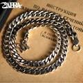 ZABRA Luxus 925 Sterling Silber 7,5mm 55cm Pferd Ketten Für Männer Halskette Vintage Thai Silber Steampunk Biker Halsketten schmuck
