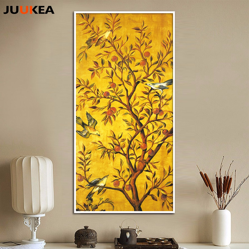 HAOCHU Traditional Chinese Style Flowers Bird Famous Work Picture ...