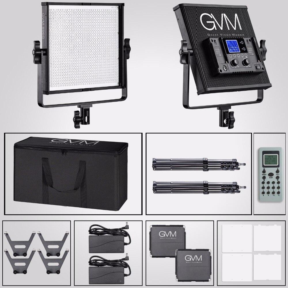 Gvm Photo Studio Led Ring Light: GVM Professional LED Video Lighting Studio Kit CRI97