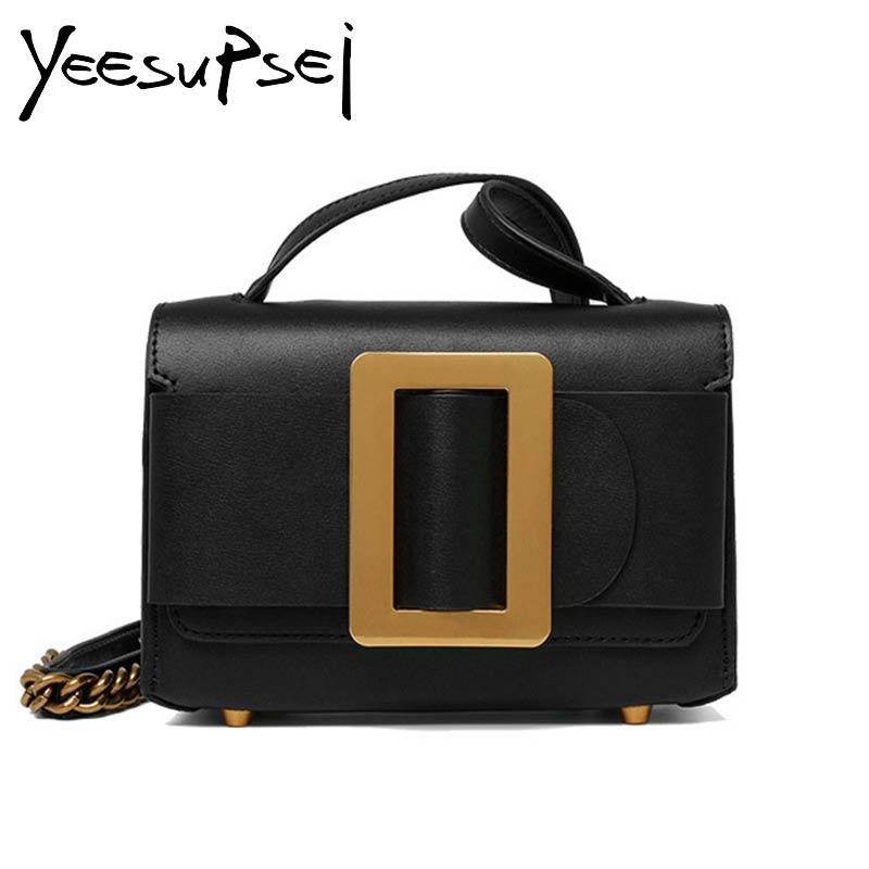 YeeSupSei แฟชั่น Sequined ตกแต่ง Flap กระเป๋าหนังแท้กระเป๋าสะพายกระเป๋าสะพายเล็กกระเป๋าเดียวกระเป๋า-ใน กระเป๋าสะพายไหล่ จาก สัมภาระและกระเป๋า บน   1