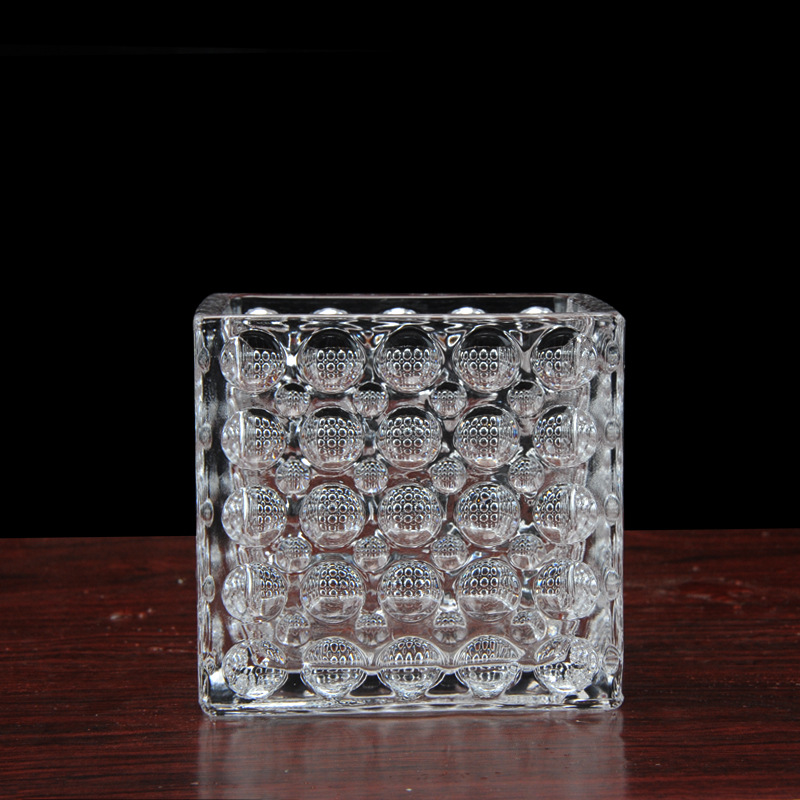 Factory Direct Creative Gifts Fashion Glass Vase Home Crafts Square