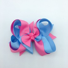 1 PC 5 Inch  infant hair bows for girls Solid Boutique Hair Tie Band Accessories Women Headwear